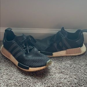 Adidas NMD black with beige.